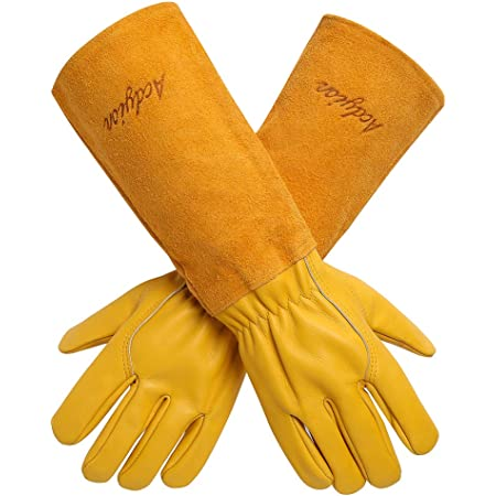 Anti-Puncture Flower Planting Suitable for Men and Women Garden Work Leather Long Gloves SAIrch Rose Pruning Thornproof Gardening Gloves Trimming