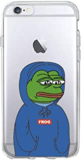 for iPhone 7 7Plus 6 6S 6Plus 8 8Plus X 5 5S SE XS Max Samsung Pepe Memes Sad Frog Soft Phone Case,5,for iPhone 6 6S