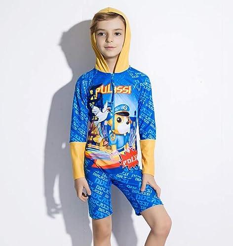Maillot de Bain pour Enfants voituretoon Costume de Plage à séchage Rapide Maillot de Bain Une pièce à Manches Longues avec écran Solaire pour Garçons ( Taille   14 )