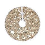Integrity.1 Falda de árbol de Navidad, Falda de árbol Impresa, Falda de árbol de Copo de Nieve de Navidad, Cubierta de Base de árbol para Navidad, para Decoraciones Navideñas (120 cm / 47 Pulgadas)