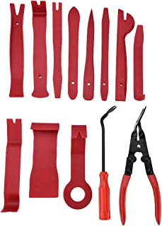 Auto Trim Removal Tool Kit, 13pcs Auto Door Panel Removal Tool for Car Interior Dash Panel Radio Trim Panel Removing, Car ...