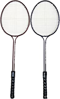 StarX Double-Shaft Steel Badminton Racquet Set, Adult G4-3 3/4-inch (Multicolor)