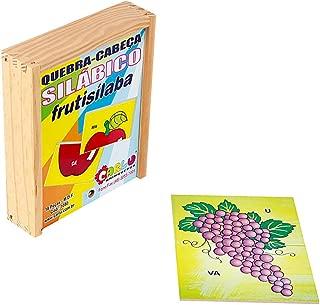 Quebra-Cabeça Silábico Frutisílaba Carlu Brinquedos