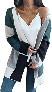 Phyhrt Women's Long Sleeve Knit Cardigan Plus Size Casual Sweaters Open Front Tops
