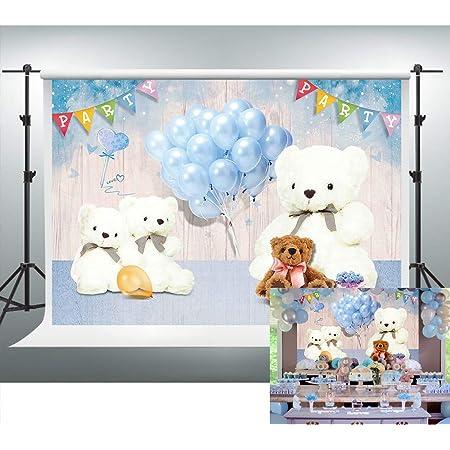 GoEoo Baby Background Fantasy Bear Photo Studio Props Vinyl Children Photography Backdrops Flowers 5x7FT GQ017