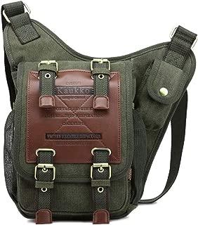Rjj Outdoor Sports Knight Bag Europe and America Shoulder Messenger Bag Casual Canvas Bag Retro Fashion Messenger Bag Exquisite (Color : Green)