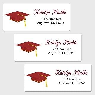 60 Personalized Graduation Return Address Labels - Customized Address Labels (AL50
