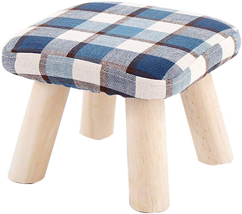 Ottomans Small Stool Solid Wood Coffee Table Sofa Stool Fabric Small Bench Stool Fashion Creative Shoes Shoes Bench DELICATEWNN Size 282821cm