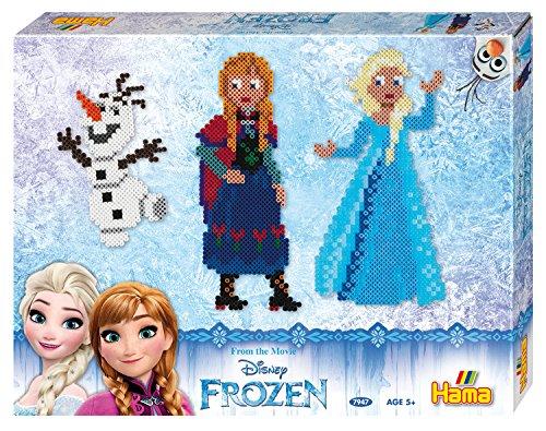 Hama 7947 - Geschenkpackung Frozen, ca. 4000 Bügelperlen und 2 quadratische Stiftplatten