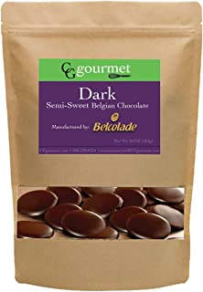 Belcolade Belgian Baking Dark Chocolate Wafers - 16 OZ (1LB) Noir Supérieur 60%