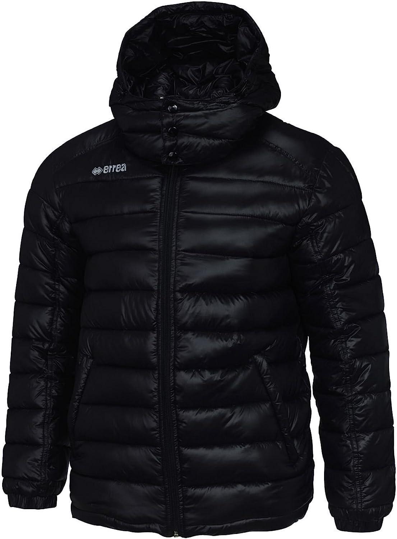 CALEDON Daunenjacke mit Kapuze (warm & weich) Ideal für Freizeit, Herbst & Winter · HERREN Slim-Fit Steppjacke (Winterjacke) aus Nylon Polyester-Material von Erreà (schwarz, 4XL)