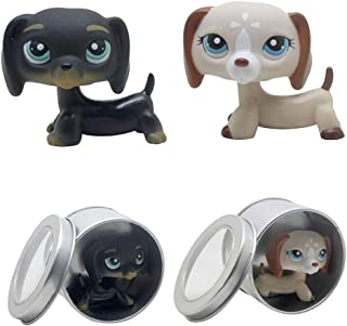 Meetsunshine LPS Figure Toy,2PCS LPS Cat Toy Short Hair Cat Doll Party Decoration with Box 2.5 inches