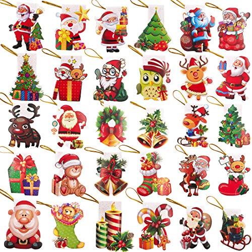 YUESEN 240pcs Ornamento Albero Natale Ciondolo Decorazione Albero Natale Riutilizzabile Carta Kraft Biglietto d' Auguri per Decorazioni Natalizie per Feste di Matrimonio