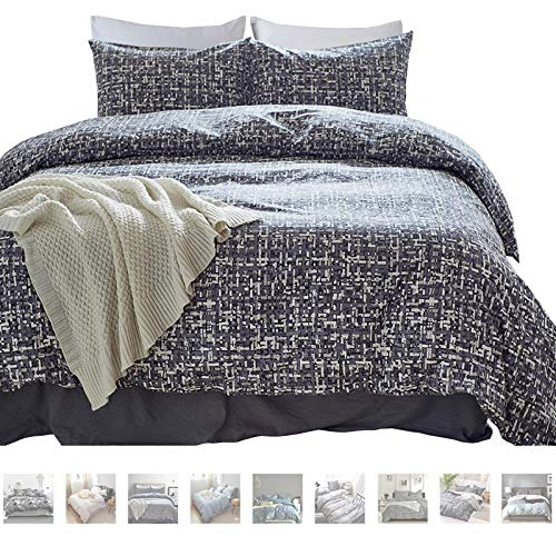 MTB 3 Piece Duvet Cover and Pillow Cases Comforter Bedding Set, 100% Cotton, Smooth & Ultra Soft, Queen Size (Also Sold in King Size)