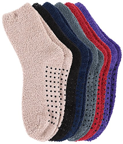 Burklett Adult Indoors Anti-Skid Winter Slipper Socks