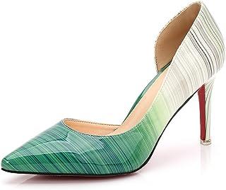 af7a397fea mogeek Zapatos de Tacón de Aguja Elegante Modo Apuntado Tacones para Fiesta  y Boda para Mujer