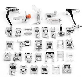 Eleoption Kit de máquina de coser con prensatelas multifuncional ...