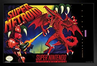 Pyramid America Super Metroid Video Game Gaming Black Wood Framed Art Poster 20x14