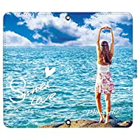 Redmi Note 10 JE XIG02 ケース [デザイン:5.Sea_girl/マグネットハンドあり] サマーラブ 夏 レッドミーノート10 xig02 手帳型 スマホケース スマホカバー 手帳 携帯 カバー