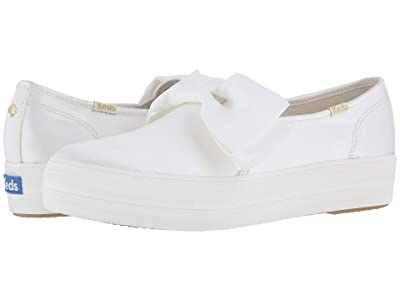 Keds x kate spade new york Bridal Triple Decker Bow (Cream Satin) Women