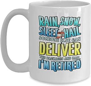 Farewell Cup I'm Retired Postal Worker Mug - 11 oz White Coffee   Tea Mug Mailman Retirement Gifts