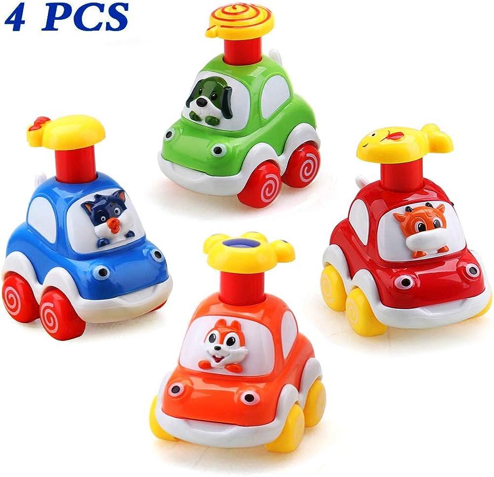 Amy & benton set auto, giocattolo per bambini,4 macchinine,4 adorabili giocattoli luminosi 1216B