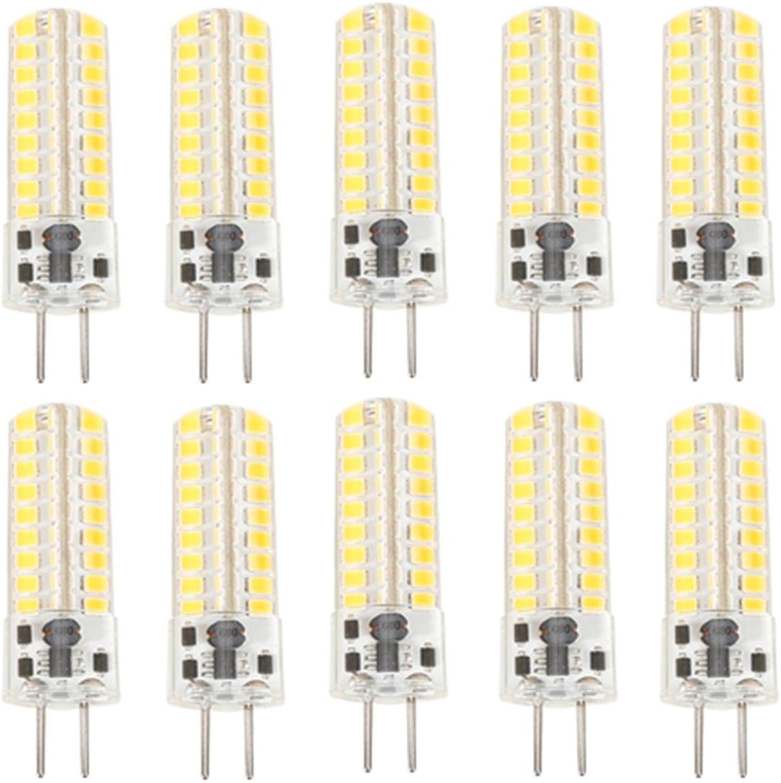Weichunya Stiefel Wohnmobil Home Strahler Leuchtmittel GY6.35 LED 72 SMD 2835 5W 320-350LM (10 Stück) (Farbe   Kaltes Wei, Größe   AC12V)