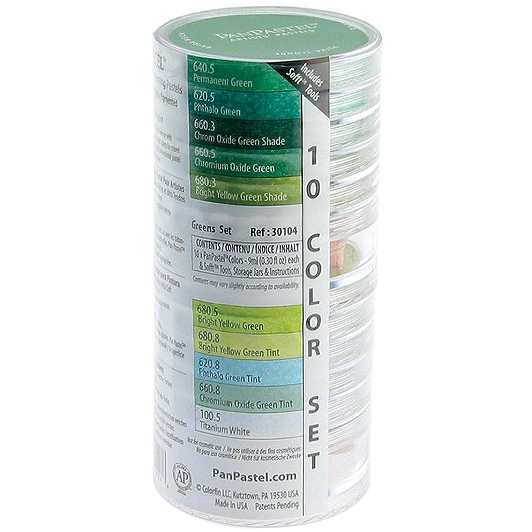 Panpastel PPSTL10-30104 Ultra Soft Artist Pastel Greens Set