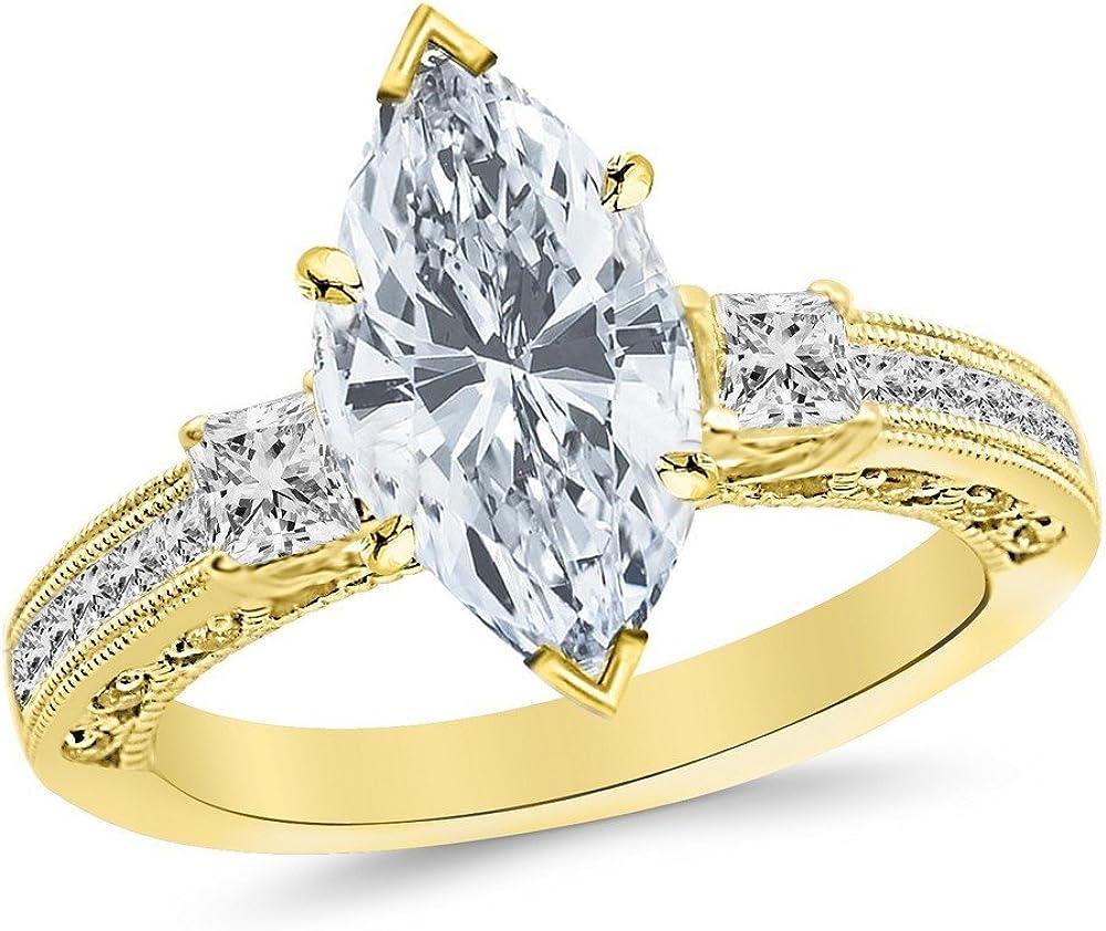 1 Carat 14K White Gold Three 3 Stone Ma Fresno Mall Set Cut Princess Ranking TOP16 Channel