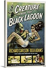 Creature from The Black Lagoon - Vintage Movie Poster Canvas Wall Art Print, 16