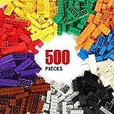 wyswyg mattoncini costruzioni 500 pezzi per bambini compatibili con tutti i marchi classic inclusi 10 colori e 14 forme di mattoni adatti per bambini di 6 anni