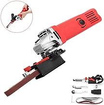 Power Tool Parts Drill Attachment - Sanding Belt Adapter Changed 115/125mm Angle Grinder into Sander Sanding Machine - 3 x Working arm, 1 x Sanding belt head, 3 x Sanding belt, 1 x Adapter