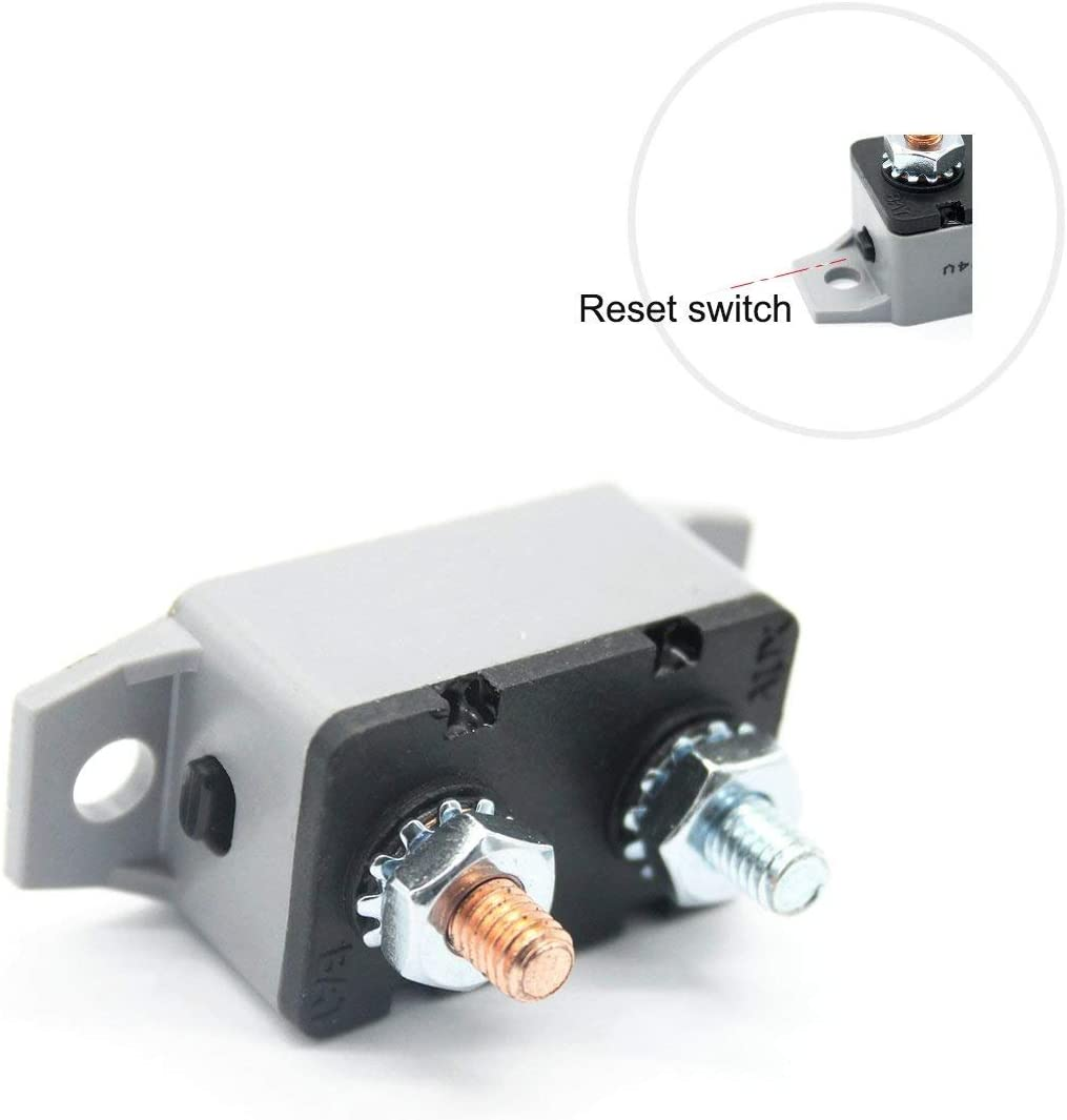 Rkurck 12 24v 20 Amp Atv Manual Resettable Circuit Breaker Fuse Holder 20a Auto