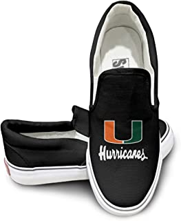 Cobain Miami University Unisex Canvas Flat Canvas Shoes Sneaker Black