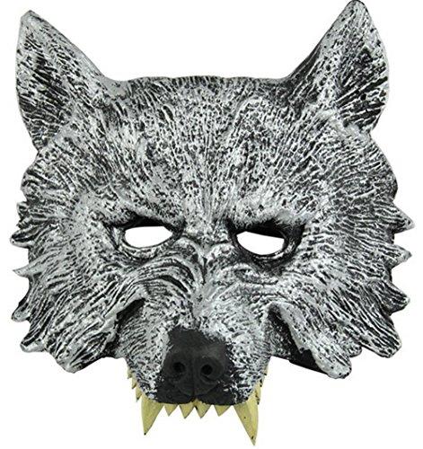 Hollwald Masque Cosplay Pour La Toussaint Bal Masqué Bal Costumé pour Les Hommes Adultes et Enfant (Loup)