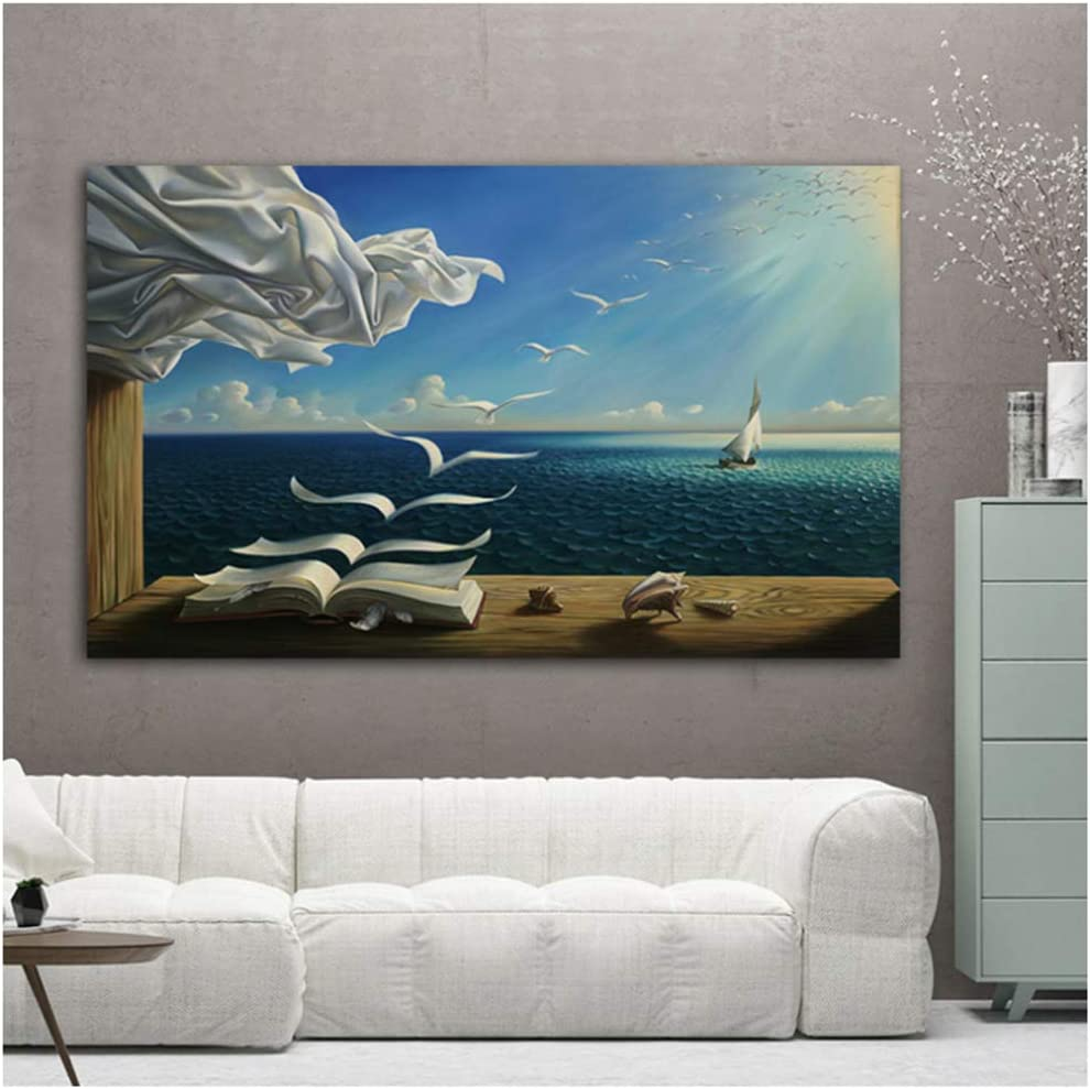 zxianc Print on Canvas Salvador Dali Waves Canv Picture Book Sea Finally resale start SEAL limited product