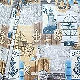 STOFFKONTOR Dekostoff Maritime Romantik 2 Stoff Meterware