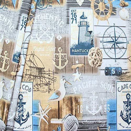 STOFFKONTOR Dekostoff Maritime Romantik 2 Stoff Meterware Multicolor