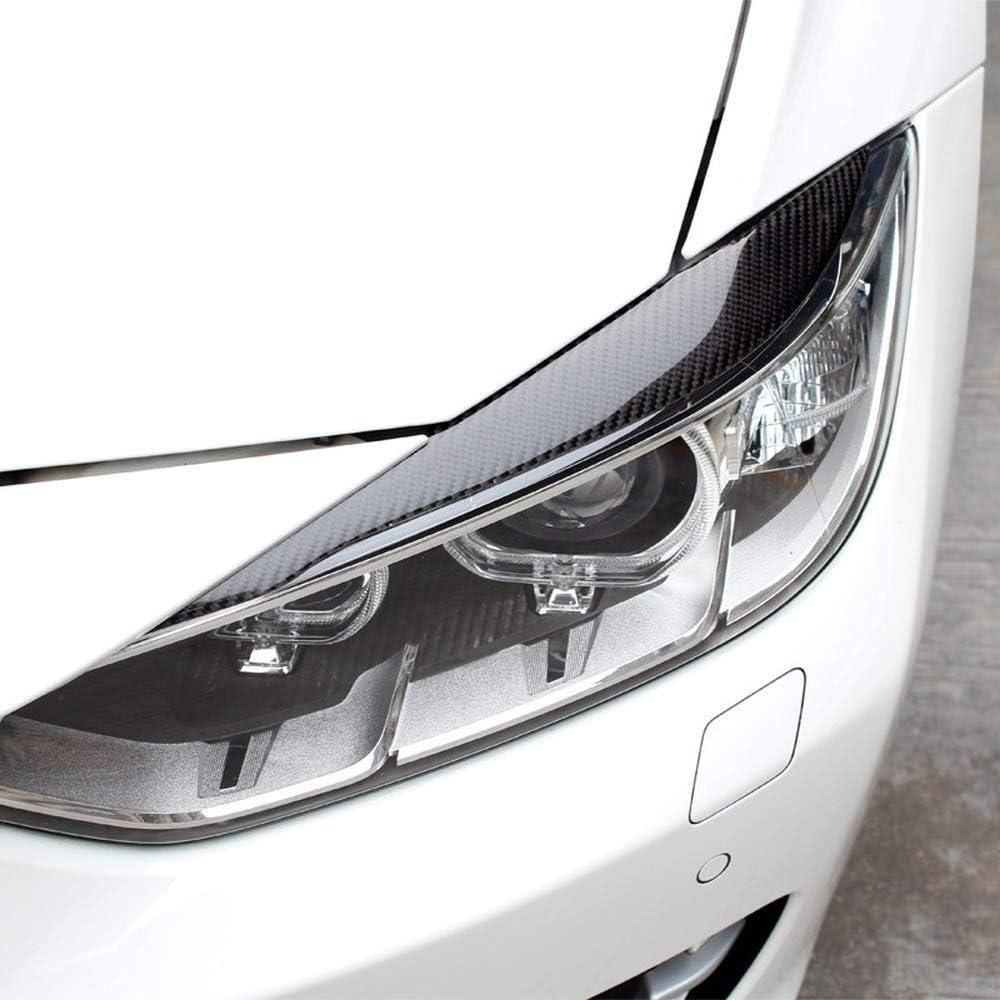 XPOXx Kohlefaserscheinwerfer Augenbraue-Augenlider-Trim-Aufkleber-Abdeckung f/ür BMW 3-Serie 2013-2017 F30 F35 Auto-Styling-Zubeh/ör Size : Eyelids Sticker
