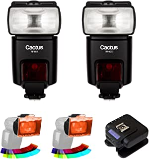 Cactus RF60x Wireless Flash (2-Pices) with Cactus Wireless Flash Transceiver V6 II & EZ-Flip Gel Set (2-Pack) Kit