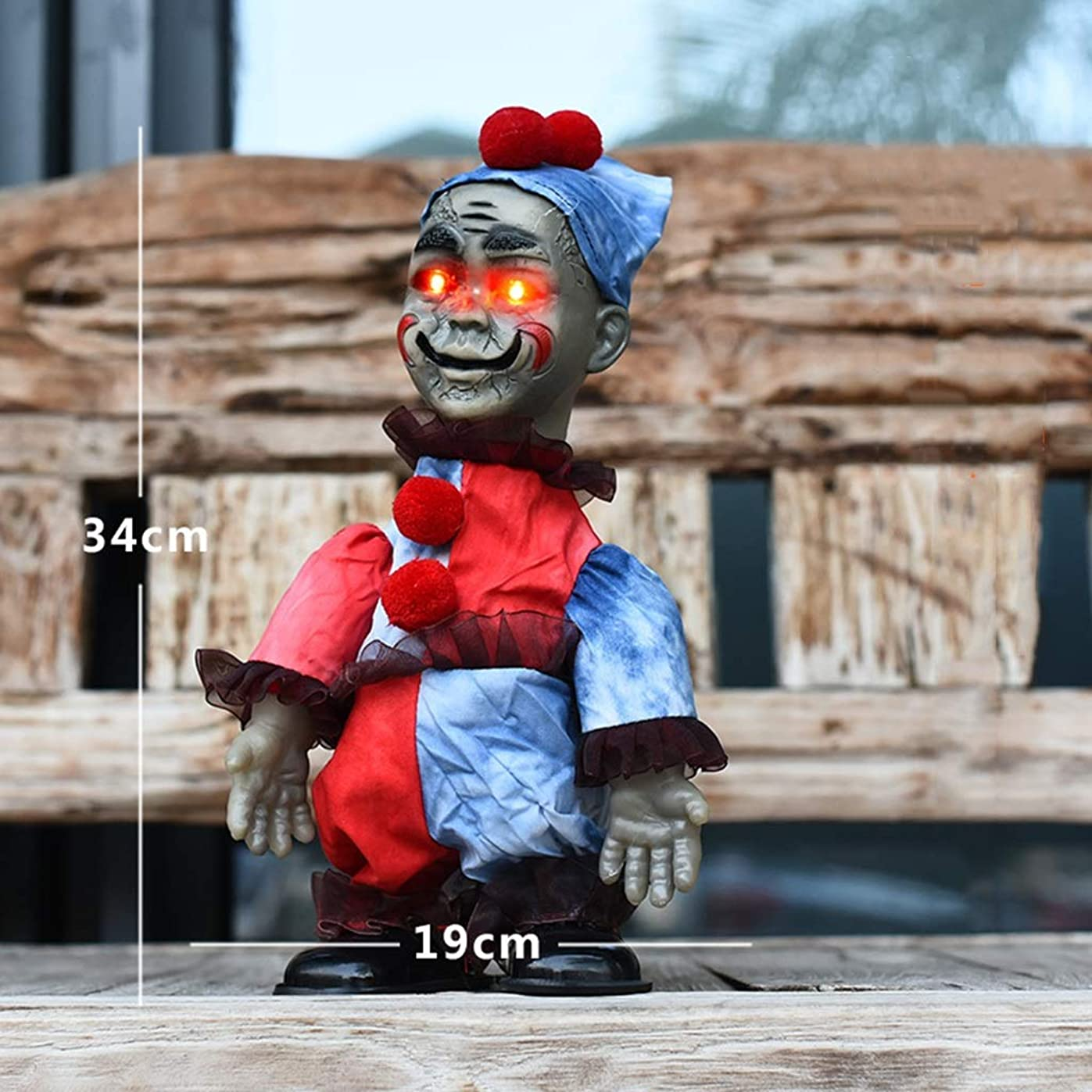 ピック量知らせるAFQHJ ハロウィーンギフト電気音声制御ホラー人形玩具ハロウィーンパーティーシーン装飾小道具電池式の音と光4スタイル (Color : D)