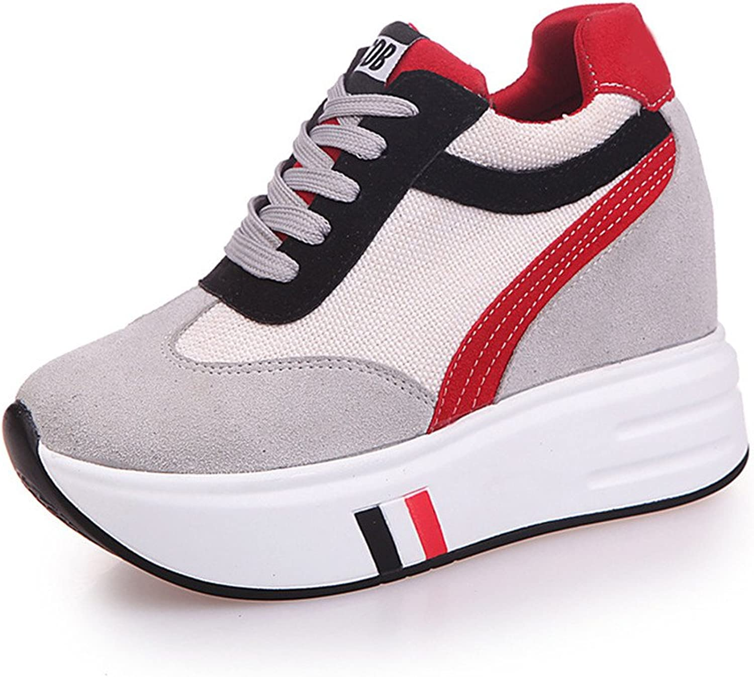 MODEOK Fashion Thick-Soled Sports shoes Round Head Toe Strap color Mixed Casual shoes