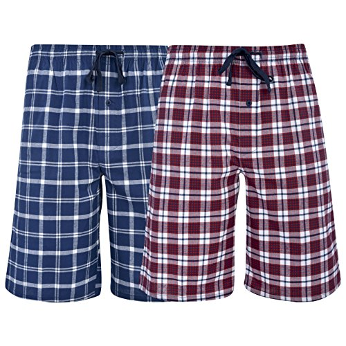 Hanes Men's & Big Men's Woven Stretch Pajama Shorts – 2 Pack