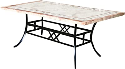 macizo mesa de jardín, mesa extensible 180 - 240 cm de alta ...