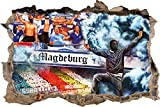 Ultras magdeburgCollage, 3D Wandsticker Format: 62x42cm,