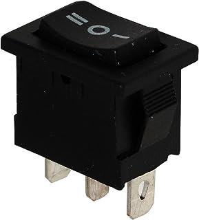 AERZETIX: Interruptor conmutador basculantes de boton SP3T ON-OFF-ON 3A/250V, 3 posiciones, Negro C10730