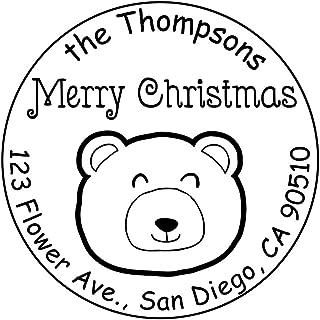 Business Stamp Self Inking Customized Little Bear Design Handmade Rubber Stamp