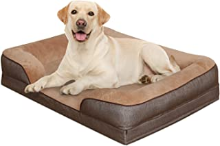 Heeyoo Waterproof Orthopedic Dog Bed, Large Memory Foam Pet Beds Pillow with Removeable Machine Washable Cover and Non Sli...