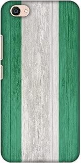 AMZER Slim Fit Handcrafted Designer Printed Snap On Hard Shell Case Back Cover for Vivo V5 Plus - Nigeria Flag- Textures HD Color, Ultra Light Back Case