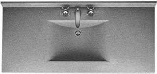 Swanstone CV02249.042 Contour Solid Surface Single-Bowl Vanity Top, 49